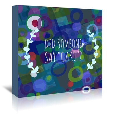 Americanflat 'Say Cake 3' by Marian Nixon Graphic Art Wrapped on Canvas