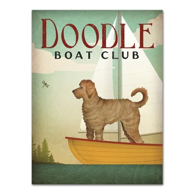Americanflat Doodle Boat Club' by Wild Apple Vintage Advertisement