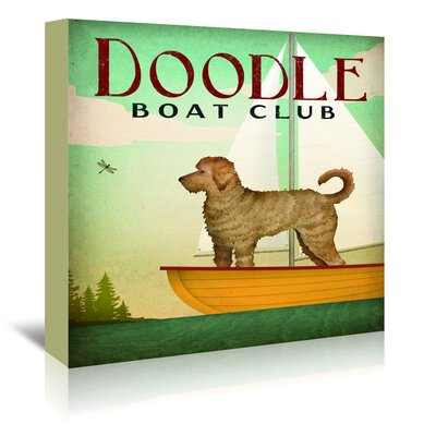 Americanflat 'Doodle Boat Club' by Wild Apple Vintage Advertisement Wrapped on Canvas