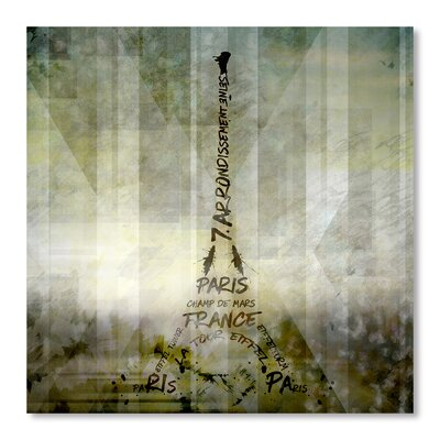 Americanflat 'Digital-Art Paris Eiffel Tower - Geometric Mix No.1' by Melanie Viola Graphic Art