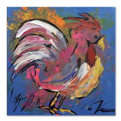Americanflat 'Funky Chicken' by Terri Einer Art Print