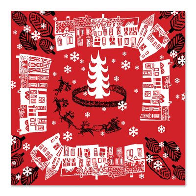 Americanflat 'Red Holiday Pattern' by Advocate Art Graphic Art