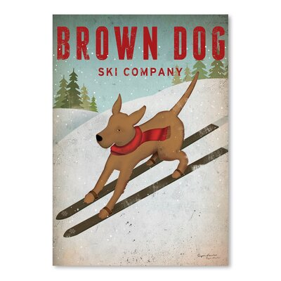 Americanflat 'Brown Dog Ski Co' by Wild Apple Graphic Art
