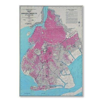 Americanflat 'Borough of Brooklyn Map' by Graffi Tee Studios Graphic Art