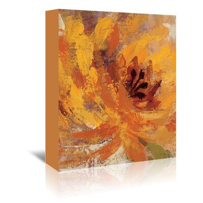 Americanflat 'Fiery Dahlias I Crop' by Wild Apple Art Print Wrapped on Canvas