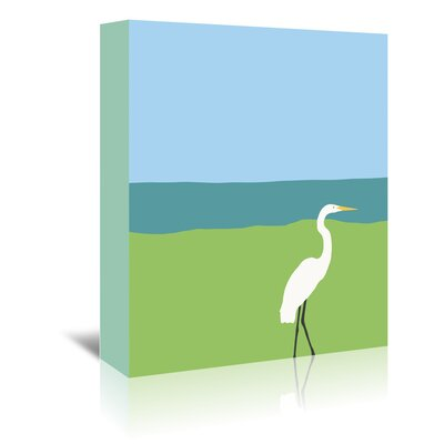 Americanflat 'Egret' by Jorey Hurley Art Print Wrapped on Canvas