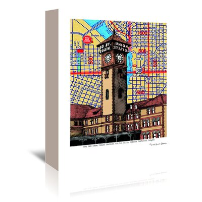Americanflat 'Union Station Portland' by Lyn Nance Sasser and Stephen Sasser Graphic Art Wrapped on Canvas