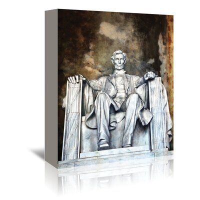 Americanflat Lincoln Memorial' by Golie Miamee Photographic Print Wrapped on Canvas