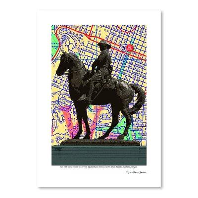 Americanflat 'Teddy Roosevelt Statue Portland' by Lyn Nance Sasser and Stephen Sasser Graphic Art