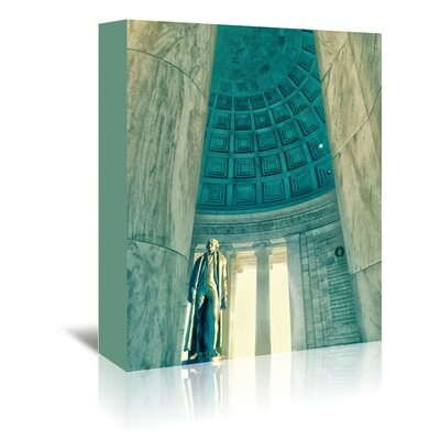 Americanflat Jefferson Memorial 22' by Golie Miamee Photographic Print Wrapped on Canvas