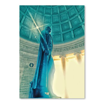 Americanflat 'Jefferson Memorial 13' by Golie Miamee Photographic Print