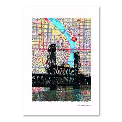 Americanflat 'Steel Bridge Portland' by Lyn Nance Sasser and Stephen Sasser Graphic Art