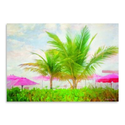 Americanflat 'Palms and Pink' by Graffi Tee Studios Art Print
