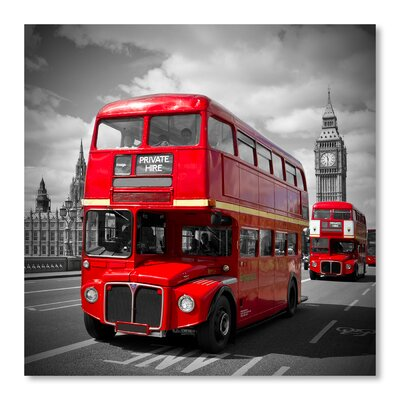 Americanflat 'London Red Busses' by Melanie Viola Photographic Print