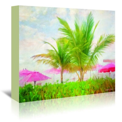 Americanflat 'Palms and Pink' by Graffi Tee Studios Art Print Wrapped on Canvas