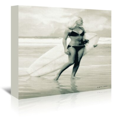 Americanflat 'Surfboard Required' by Graffi Tee Studios Photographic Print Wrapped on Canvas