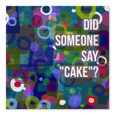 Americanflat 'Say Cake 6' by Marian Nixon Graphic Art