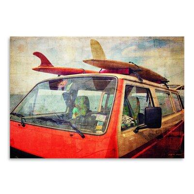 Americanflat Surf Bus (1)' by Graffi Tee Studios Graphic Art