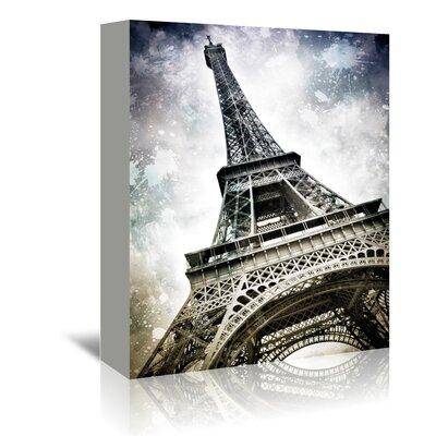 Americanflat Modern Art Paris Eiffel Tower Splashes' by Melanie Viola Graphic Art Wrapped on Canvas