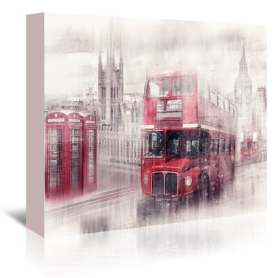 Americanflat 'City-Art London Westminster Collage' by Melanie Viola Graphic Art Wrapped on Canvas