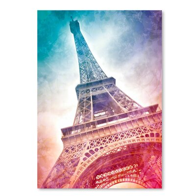 Americanflat Modern Art Paris Eiffel Tower' by Melanie Viola Graphic Art