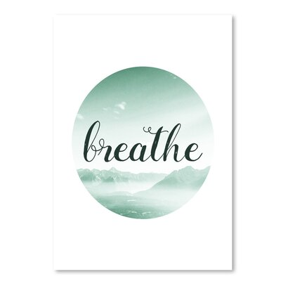 Americanflat 'Breathe' by Pop Monica Typography
