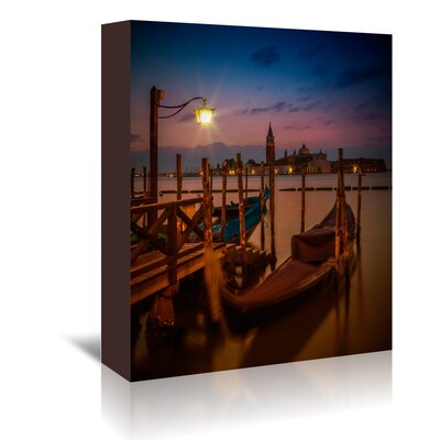 Americanflat 'Venice Gondolas at Sunrise' by Melanie Viola Photographic Print Wrapped on Canvas