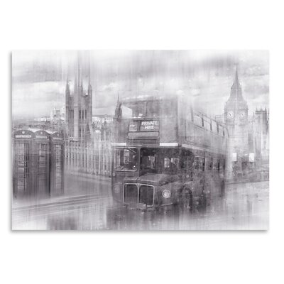 Americanflat 'City London Westminster Collage Monochrome' by Melanie Viola Graphic Art