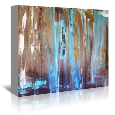 Americanflat 'Healing Blue' by Laura D Zajac Art Print Wrapped on Canvas