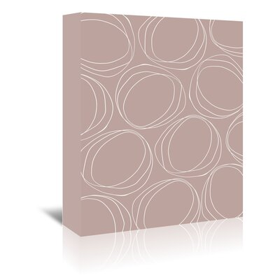 Americanflat 'Poppy Petals Large Circles Sandstone' by Chris Purcell Graphic Art Wrapped on Canvas
