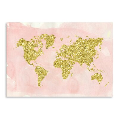 Americanflat 'World Map' by Ikonolexi Graphic Art