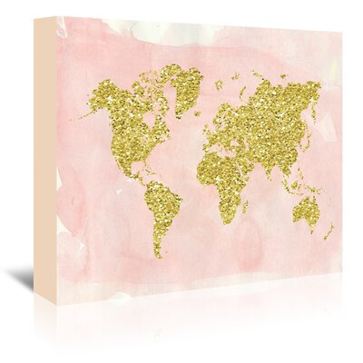 Americanflat 'World Map' by Ikonolexi Graphic Art Wrapped on Canvas