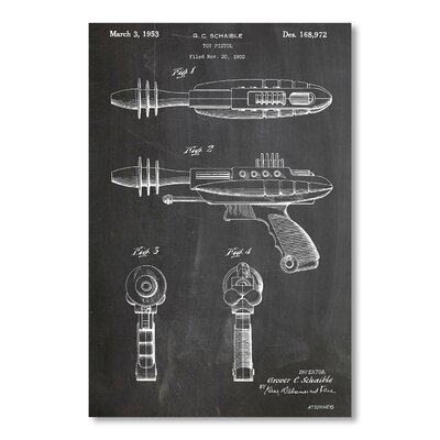 Americanflat 'Ray Gun' by House of Borders Graphic Art Wrapped on Canvas