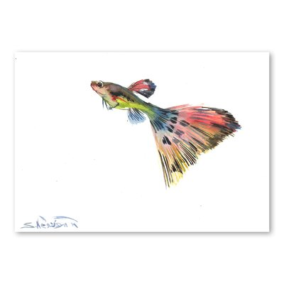 Americanflat Guppy Multi' by Suren Nersisyan Graphic Art Wrapped on Canvas