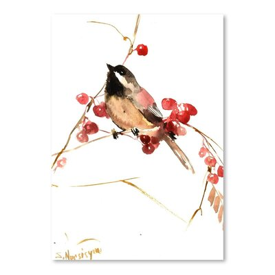 Americanflat 'Chickadee 13' by Suren Nersisyan Painting Print on Wrapped Canvas