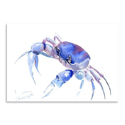 Americanflat 'Blue Crab 2' by Suren Nersisyan Painting Print Wrapped on Canvas