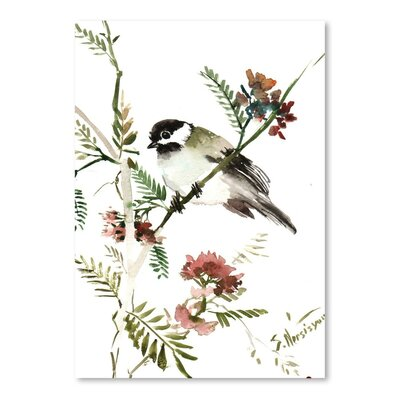 Americanflat 'Mountain Chickadee' by Suren Nersisyan Painting Print on Wrapped Canvas