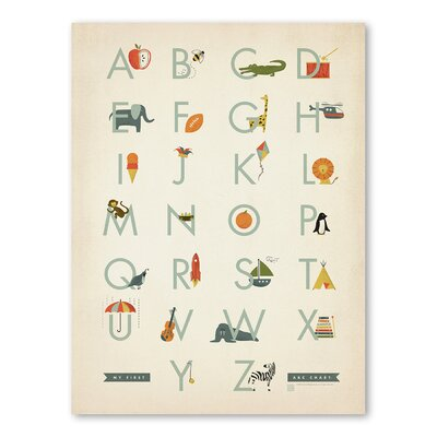 Americanflat Alphabet_Boy Graphic Art on Wrapped Canvas