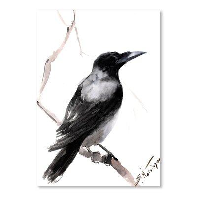 Americanflat 'Hodded Crow 2' by Suren Nersisyan Painting Print on Wrapped Canvas