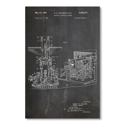 Americanflat 'Missile Launching System' by House of Borders Graphic Art Wrapped on Canvas
