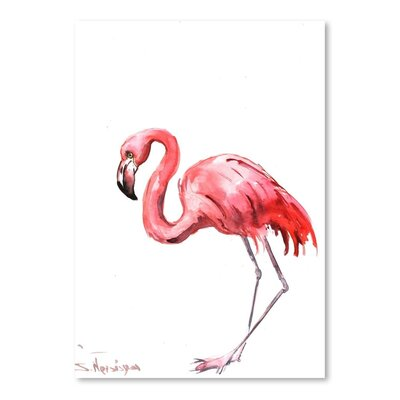 Americanflat 'Flamingo' by Suren Nersisyan Painting Print on Wrapped Canvas