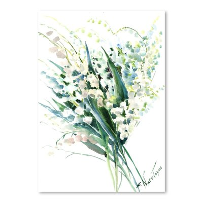 Americanflat 'Lilies of the Valley' by Suren Nersisyan Art Print Wrapped on Canvas