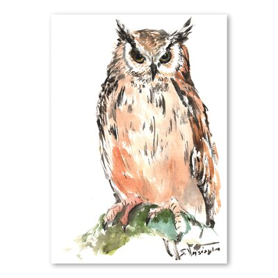 Americanflat 'Owl' by Suren Nersisyan Painting Print on Wrapped Canvas