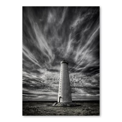 Americanflat 'Dark Lighthouse' by Lina Kremsdorf Photographic Print Wrapped on Canvas