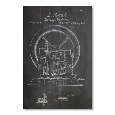 Americanflat 'Sewing Machine' by House of Borders Graphic Art on Wrapped Canvas