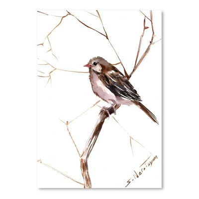 Americanflat 'Field Sparrow 2' by Suren Nersisyan Painting Print on Wrapped Canvas