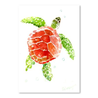 Americanflat 'Sea Turtle' by Suren Nersisyan Art Print Wrapped on Canvas