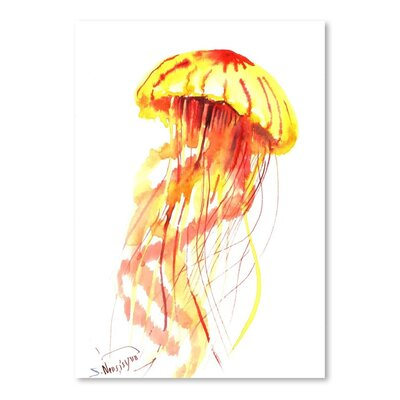 Americanflat 'Jellyfish Fire' by Suren Nersisyan Painting Print on Wrapped Canvas