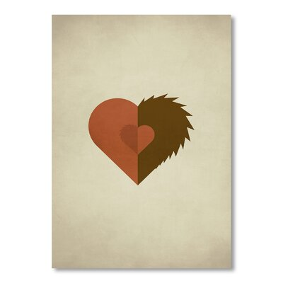 Americanflat 'Beauty and the Beast' by Christian Jackson Graphic Art on Wrapped Canvas