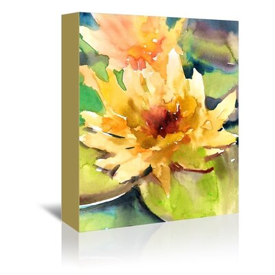 Americanflat Lotus Painting Print on Wrapped Canvas